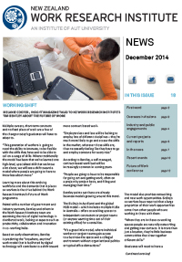 Cover of Newsletter December 2014