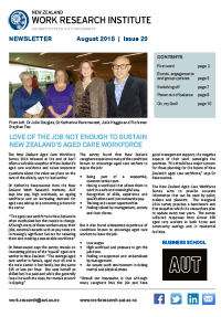 Cover of Newsletter August 2015