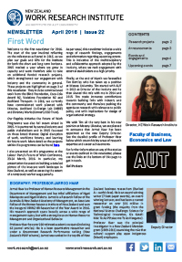 Cover of Newsletter April 2016