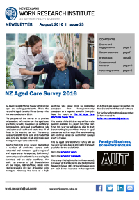 Cover of Newsletter August 2016