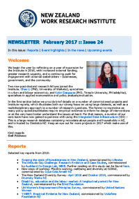 Cover of Newsletter February 2017