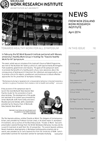 Cover of Newsletter April 2014