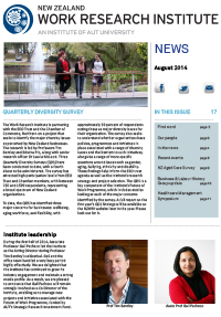 Cover of Newsletter August 2014